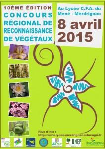 Affiche concours régional de reconnaissance des végétaux (Merdrignac 10 avril 2015)